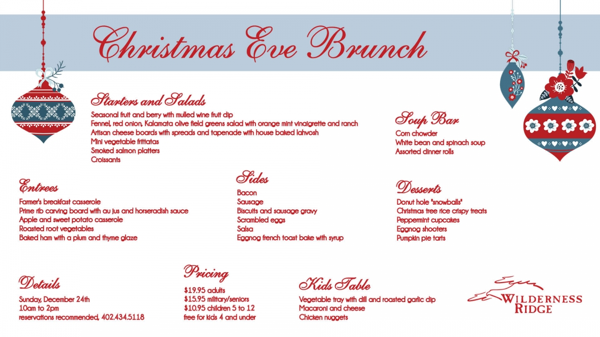 join us for christmas eve brunch on december 24 from 10am to 2pm reservations recommended 4024345118